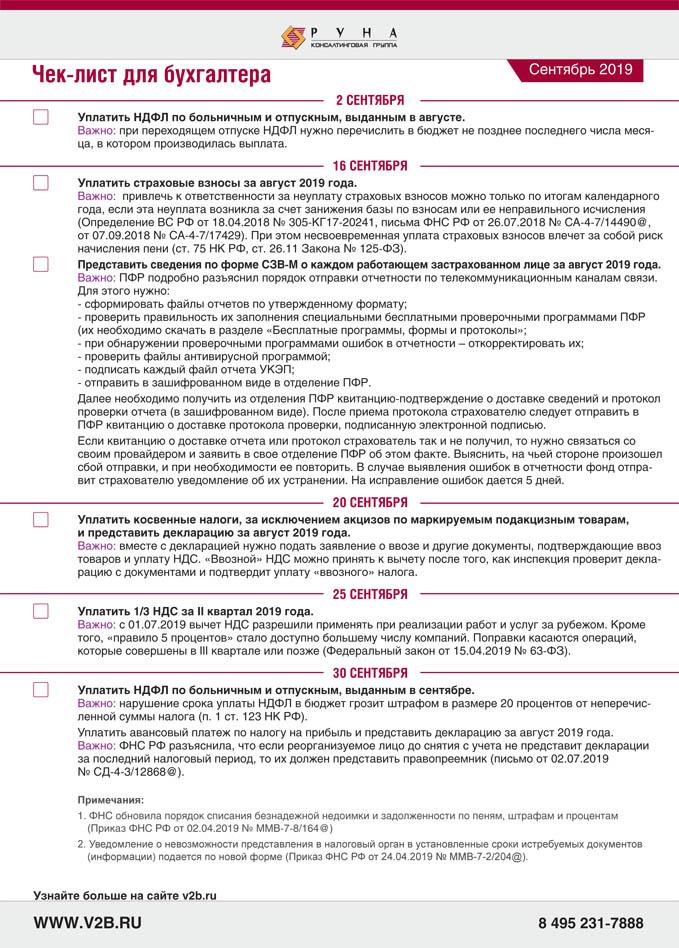 ВБ.Чек-лист.2019-09